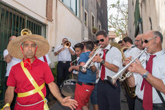 ACI TREZZA, ITALY - JUNE, 24 2014 - San Giovanni traditional parade celebration Stock Images