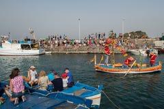 ACI TREZZA, ITALY - JUNE, 24 2014 - San Giovanni traditional parade celebration Royalty Free Stock Images