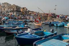 ACI TREZZA, ITALY - JUNE, 24 2014 - San Giovanni traditional parade celebration Stock Image