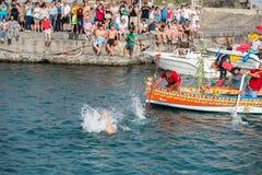 ACI TREZZA, ITALY - JUNE, 24 2014 - San Giovanni traditional parade celebration Stock Photos