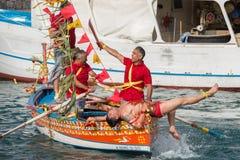 ACI TREZZA, ITALY - JUNE, 24 2014 - San Giovanni traditional parade celebration Royalty Free Stock Image