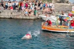 ACI TREZZA, ITALY - JUNE, 24 2014 - San Giovanni traditional parade celebration Royalty Free Stock Photo