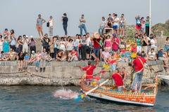 ACI TREZZA, ITALY - JUNE, 24 2014 - San Giovanni traditional parade celebration Stock Photography