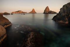 Aci Trezza Sicilia - Italia fotografie stock libere da diritti