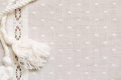 Łaciasta tkanina z paskiem koronka i arkana Fotografia Royalty Free