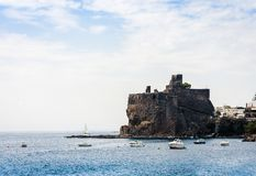 Acicastello – ancient norman castle in Acitrezza, Catania, Sicily, Italy royalty free stock photo