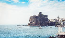 Acicastello – ancient norman castle in Acitrezza, Catania, Sicily, Italy.  royalty free stock photo