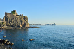 Acicastello, Catania, Italien Lizenzfreies Stockbild