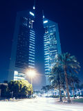 Acico Twin Towers along Sheikh Zayed Road in Dubai, UAE Stock Photography