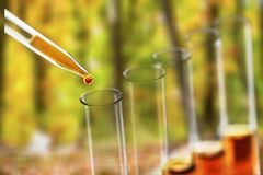 Acid. Analysis beaker biology biotech biotechnology blue stock images