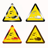 Acid danger sign Royalty Free Stock Photo