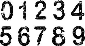 Acid etched numbers Royalty Free Stock Photography