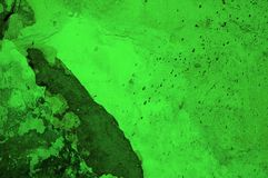 Acid green rotten surface Royalty Free Stock Images
