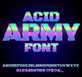 Acid House Font Stock Photos