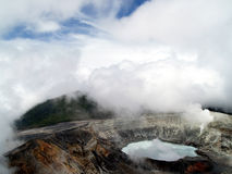 Acid lake. In active volcanic crater at costa rica Royalty Free Stock Photo