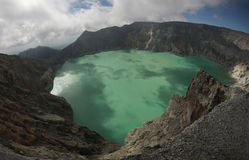 Acid lake in Kawah Ijen, East Java, Indonesia. Royalty Free Stock Photos