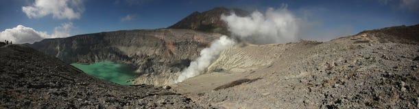 Acid lake in Kawah Ijen, East Java, Indonesia. Royalty Free Stock Image