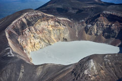 Acid lake. In volcano crater, Kamchatka Royalty Free Stock Images