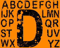 Acid Letters A-Z. Acid Etched Font -  26 Individual Vector Letters (Acid etching is transparent so the letters can be overlaid on other graphics Stock Photo