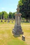 Acid rain on cemetery headstone Royalty Free Stock Photo