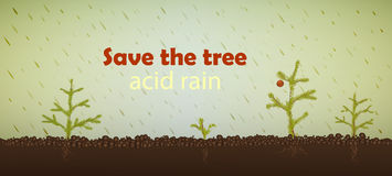 Acid rain Royalty Free Stock Photos