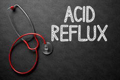 Acid Reflux Concept on Chalkboard. 3D Illustration. Royalty Free Stock Photography