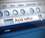 Acid reflux concept. Royalty Free Stock Photography