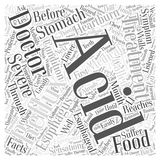 Acid reflux treatment word cloud concept. Background Royalty Free Illustration