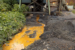 Acid rock drainage, Appalachia Royalty Free Stock Photo