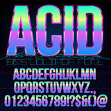 Acid sci-fi font Stock Photo