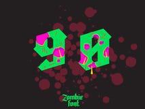 Acid zombie gothic font Royalty Free Stock Image