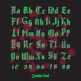 Acid zombie gothic font set Royalty Free Stock Photo