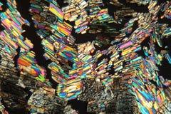 Acide aminé d'alanine sous le microscope photo libre de droits