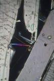 Acide benzoïque sous le microscope Images stock