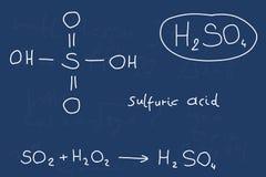 Acide sulfurique Photo stock