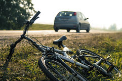 Acidente da bicicleta Foto de Stock Royalty Free