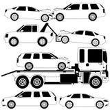 Acidente da colisão do carro Imagem de Stock