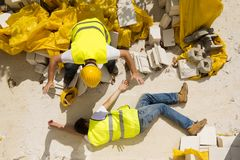 Acidente da construção Fotografia de Stock Royalty Free