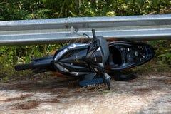 Acidente da motocicleta Fotografia de Stock Royalty Free