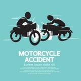 Acidente da motocicleta Fotografia de Stock