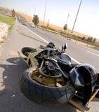 Acidente da motocicleta Imagem de Stock