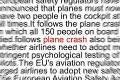 Acidente de aviação Fotos de Stock