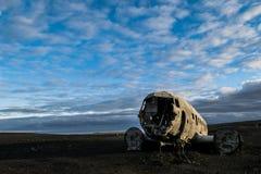 Acidente de aviação de Solheimasandur Foto de Stock Royalty Free