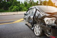 Acidente de choque de carro