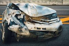 Acidente de choque de carro Imagem de Stock