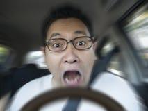 Acidente de About To Have do motorista chocado imagem de stock royalty free