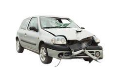 Acidente de trânsito destruído Imagens de Stock Royalty Free