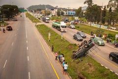 Acidente de trânsito em Tailândia Imagens de Stock