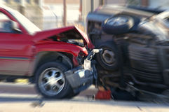Acidente de transito Foto de Stock