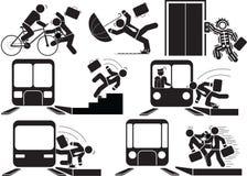 Acidente de trem Fotos de Stock Royalty Free